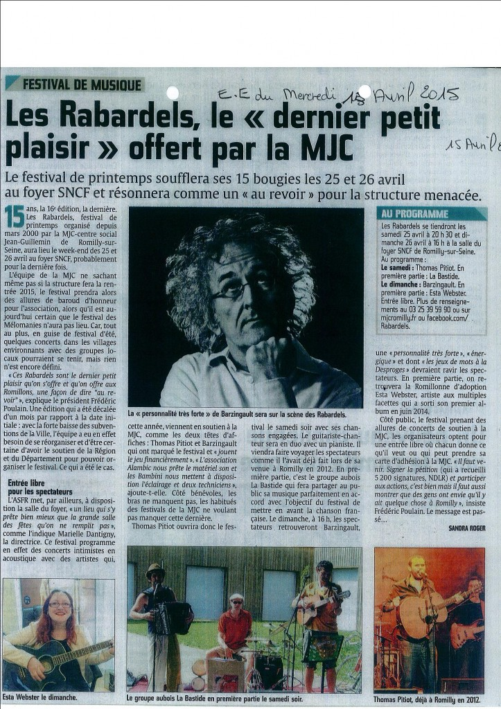 article presse rabardels 2015
